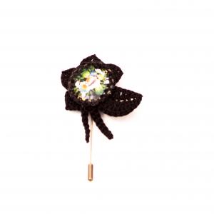 Reversnadel Blume